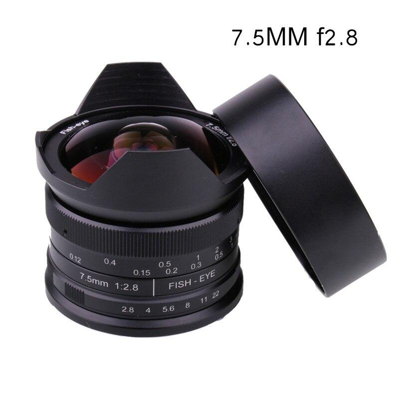RISESPRAY Camera Lens 7.5mm f2.8 fisheye lens 180 APS-C Manual Fixed Lens For Fuji FX Mount Hot Sale Free Shipping